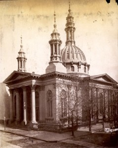 A Picture of the Original Sanctuary on the Corner of 18th and Arch St.
